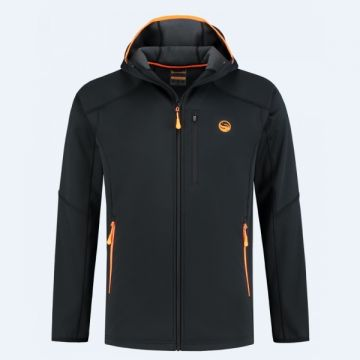 Guru Polar Softshell Jacket black - orange visjas Xxx-large