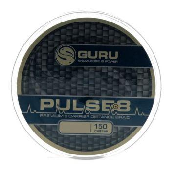 Guru Pulse-8 Braid bruin gevlochten visdraad 0.08mm 150m