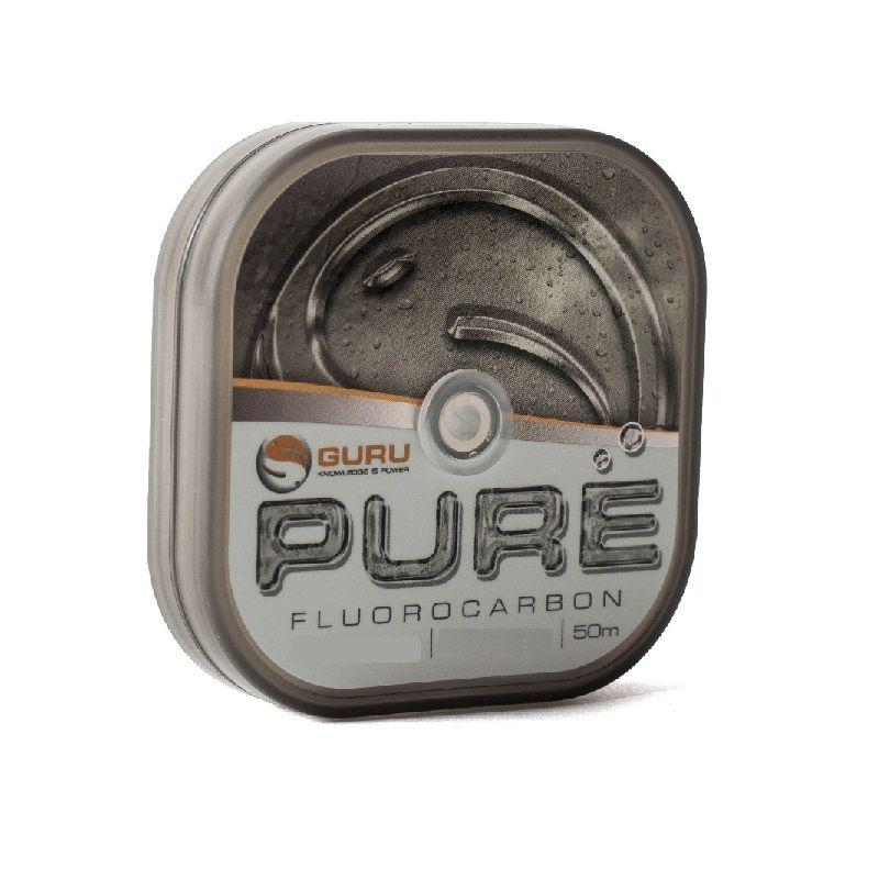 Guru PURE Fluorocarbon clear visdraad 0.10mm 50m