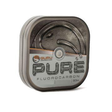 Guru PURE Fluorocarbon clear visdraad 0.12mm 50m