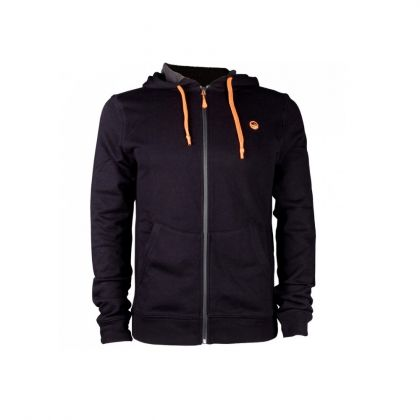 Guru Zip Up Hoodie zwart - oranje vistrui Medium