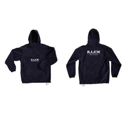 Illex Fleece Hooded Top blauw - wit vistrui Small