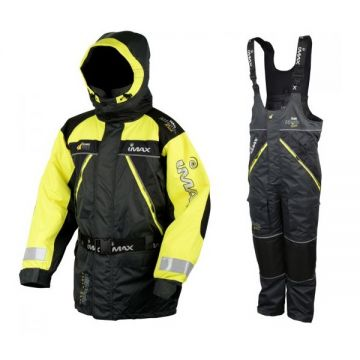 Imax Atlantic Race Floatation Suit zwart - geel warmtepak X-large