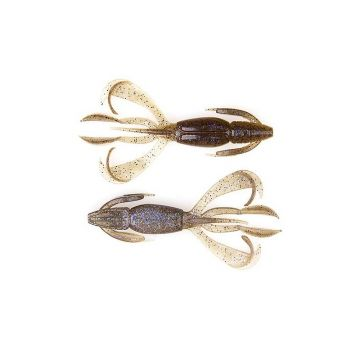 Keitech Crazy Flapper electric smoke craw roofvis creature bait 3.60 Inch