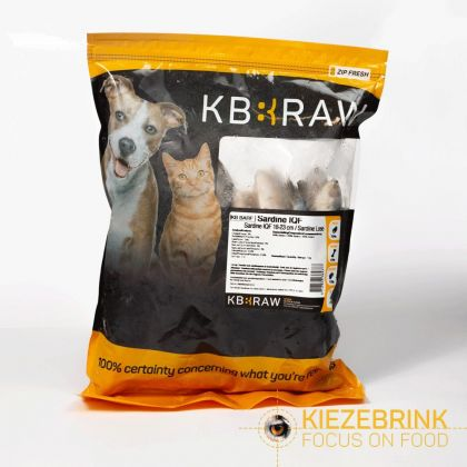 Kiezenbrink Sardines IQF 18-23cm 1kg enkel afhaling wit - grijs voeding roofvogels