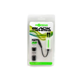 Korda Bobbins Black & Whites wit karper viswaker Medium