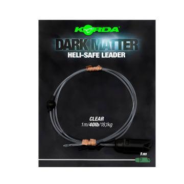Korda Dark Matter Leader Heli Safe clear karper lood systeem 40lb 1m00