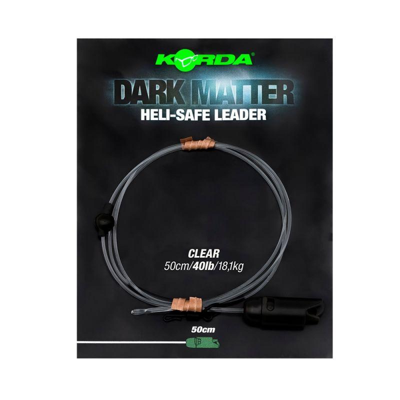 Korda Dark Matter Leader Heli Safe clear karper lood systeem 40lb 50cm