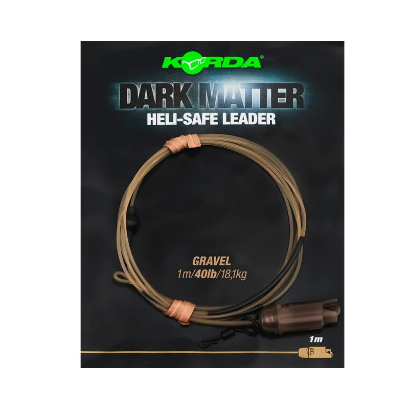 Korda Dark Matter Leader Heli Safe gravel karper lood systeem 40lb 1m00