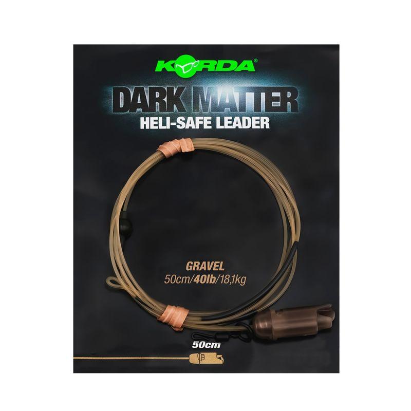 Korda Dark Matter Leader Heli Safe gravel karper lood systeem 40lb 50cm