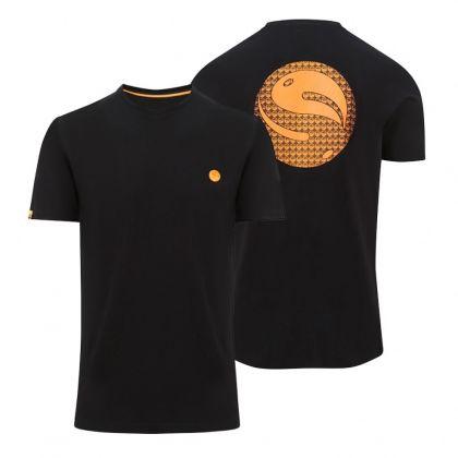 Korda Gradient Logo Tee Black zwart - oranje vis t-shirt X-large