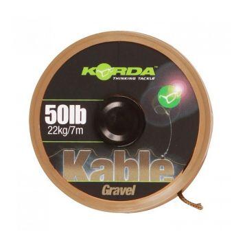 Korda Kable Leadcore gravel brown karper lood systeem 50lb 7m