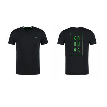Korda LE Loyal Tee zwart - groen vis t-shirt Small