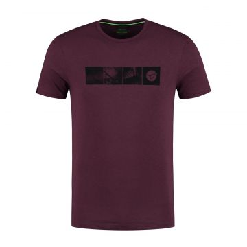 Korda LE Scenik Tee bordeaux vis t-shirt Small