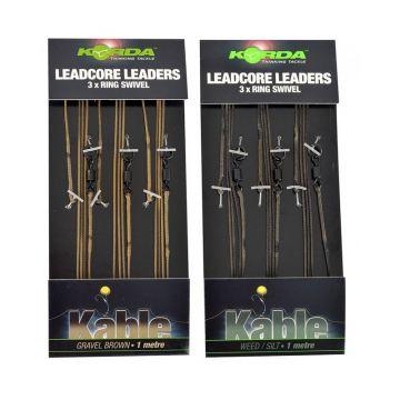 Korda Leadcore Ring Swivel Leaders weed silt karper karper onderlijn 1m00