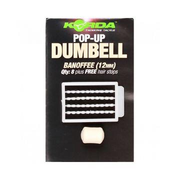 Korda Pop-Up Dumbell Banoffee wit karper imitatie visaas 12mm