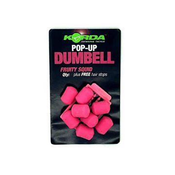 Korda Pop-Up Dumbell Fruity Squid roze karper imitatie visaas 16mm