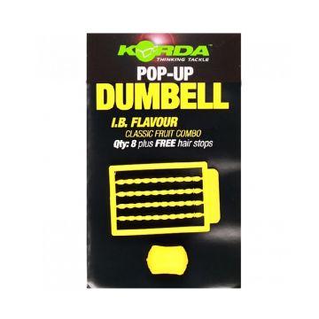 Korda Pop-Up Dumbell IB geel karper imitatie visaas 16mm