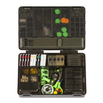 Korda PRE-SALES Tackle Box zwart - groen karper visdoos