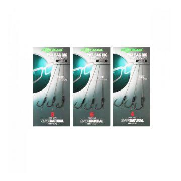 Korda PVA Bag Rig Wide Gape Barbed camo - zilver karper karper onderlijn H4 18lb