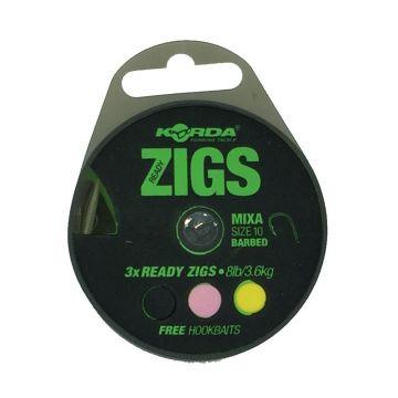 Korda Ready Zigs clear - zilver karper karper onderlijn H10 3m66