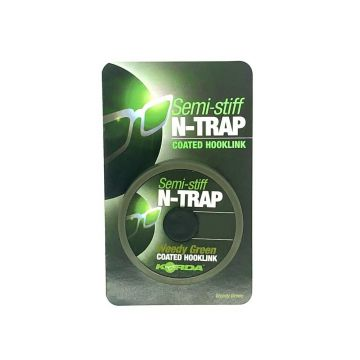 Korda Semi-Stiff N-Trap weedy green karper draad voor onderlijn 20lb 20m