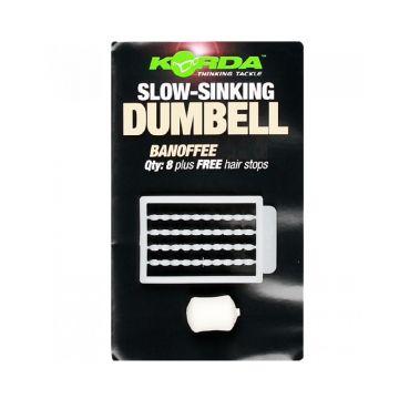 Korda Slow Sinking Dumbell Banoffee wit karper imitatie visaas 12mm