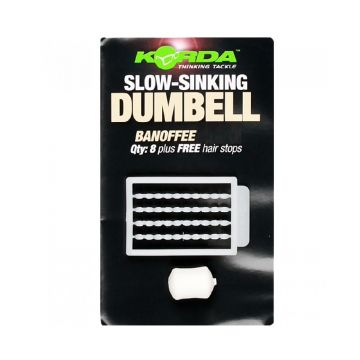 Korda Slow Sinking Dumbell Banoffee wit karper imitatie visaas 8mm
