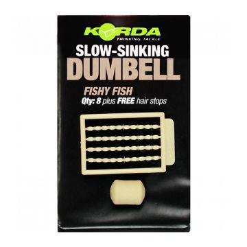 Korda Slow Sinking Dumbell Fishy Fish bruin karper imitatie visaas 12mm