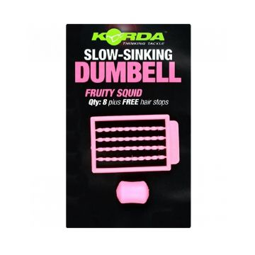 Korda Slow Sinking Dumbell Fruity Squid roze karper imitatie visaas 8mm