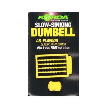 Korda Slow Sinking Dumbell IB geel karper imitatie visaas 16mm
