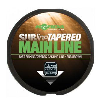 Korda Subline Tapered Mainline bruin karper visdraad 0.33mm-0.50mm 300m