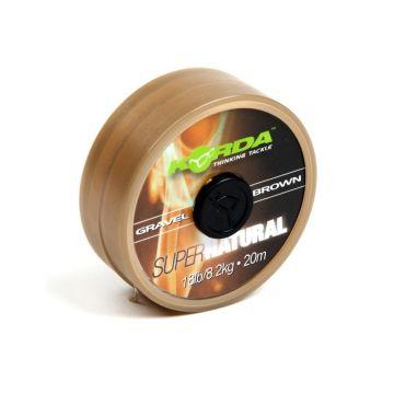 Korda Super Natural brown karper draad voor onderlijn 18lb 20m