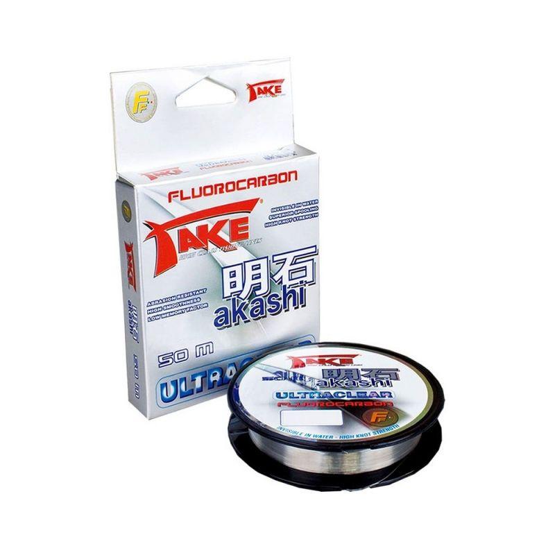 Lineaeffe Akashi Fluorocarbon clear visdraad 0.18mm 50m 6.00kg