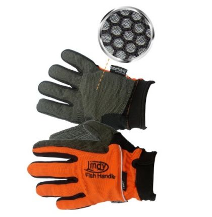 Macfishing Lindy Fishing Glove oranje - zwart handschoen Links