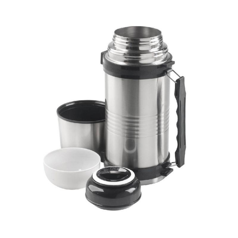 Macgyver Isoleerfles Multi-Use zwart - zilver 1.2l