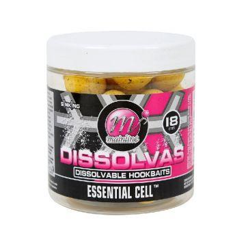 Mainline Dissolvas Essential Cell bruin - geel karper pop-up boilies 18mm 100g