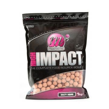 Mainline High Impact Boilies Salty Squid roze karper boilie 20mm 1kg