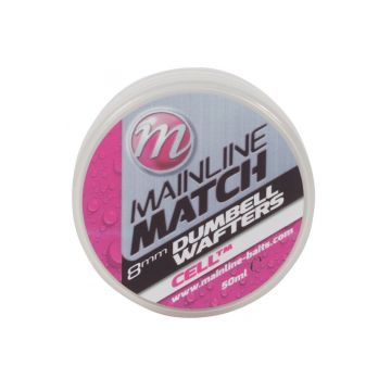 Mainline Match Dumbell Wafters Cell wit witvis mini-boilie 8mm 50ml
