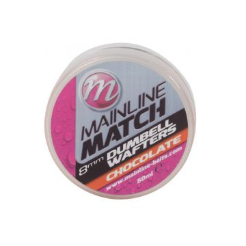 Mainline Match Dumbell Wafters Chocolate oranje witvis mini-boilie 8mm 50ml
