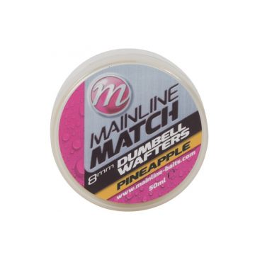 Mainline Match Dumbell Wafters Pineapple geel witvis mini-boilie 8mm 50ml