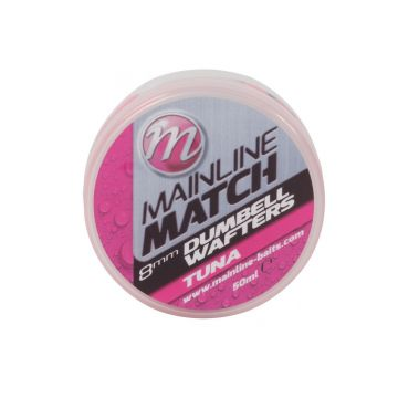 Mainline Match Dumbell Wafters Tuna roze witvis mini-boilie 8mm 50ml