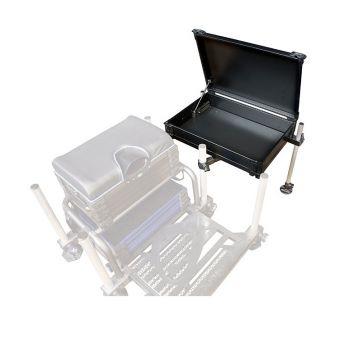 Matrix 3D Rigid Side Tray & Cover zwart - zilver witvis