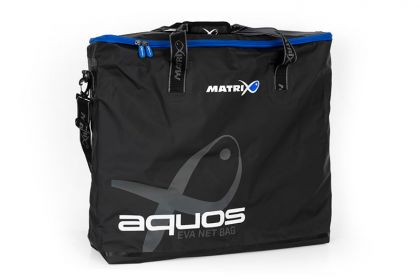 Matrix Aquos PVC Net Bag grijs - zwart - blauw foreltas witvistas 48x32x30cm