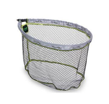 Matrix Carp Landing Net zwart - grijs - groen visschepnet 60x50mm