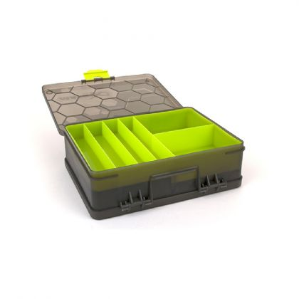 Matrix Double Sided Feeder & Tackle Box grijs - groen visdoos