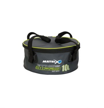 Matrix ETHOS Pro EVA Bait Bowls Lid & Handles grijs - wit - blauw foreltas witvistas 10l