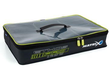 Matrix ETHOS Pro XL Bait Storage System grijs - wit - groen foreltas witvistas