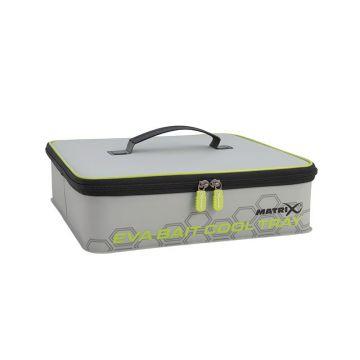 Matrix EVA Bait Cooler Tray grijs - zwart - groen foreltas witvistas 36x33x10cm