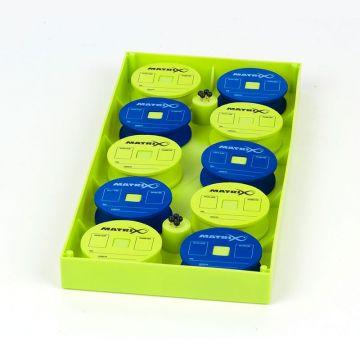 Matrix EVA Rig Discs & Insert Tray blauw - groen onderlijn plankje